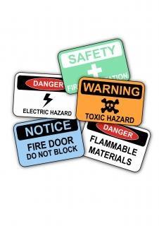 Segurança sinais no local de trabalho