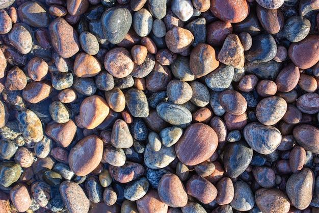 Seixos pequenos seixos na costa seixos do mar