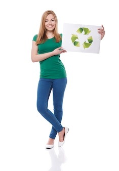 Seja verde e ajude nosso planeta