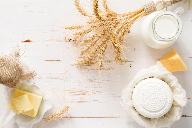 Seleção de produtos lácteos