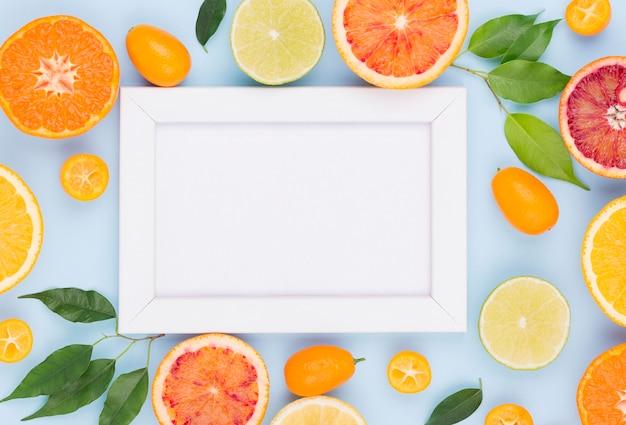 Seleção de vista superior de frutas orgânicas