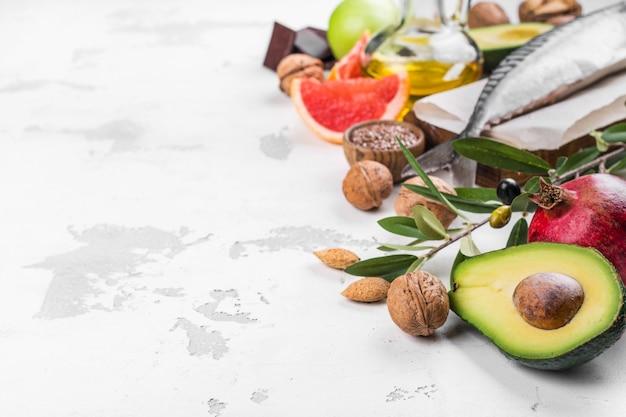 Selecção de comida para um coração saudável