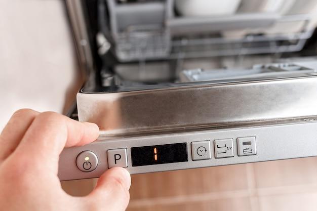 Selecione um programa de lavagem de louça.