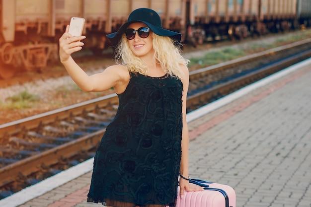 Selfie beleza estação forma bonita