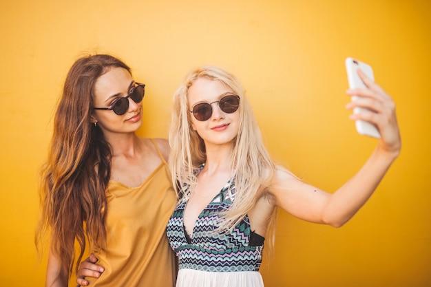 Selfie com um amigo