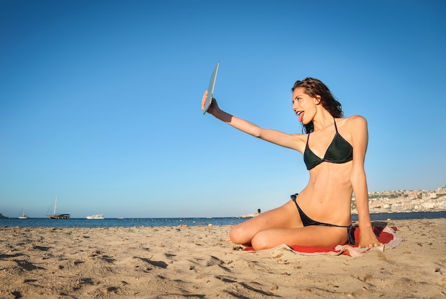 Selfie da praia