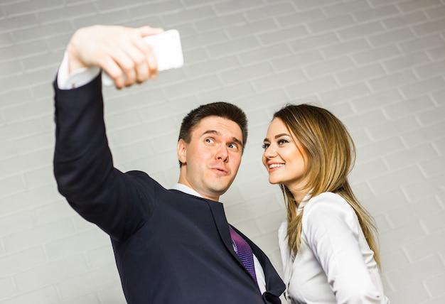 Selfie de funcionários