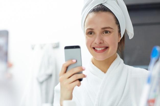 Selfie depois do banho