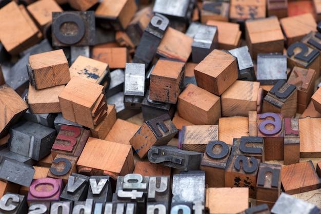 Selo de aphabet, letras de bloco