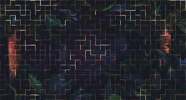 Selva de noite de fundo duplo abstrato.