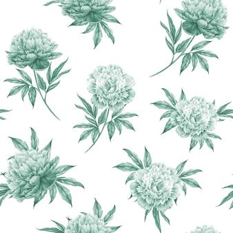 Sem costura padrão floral com rosas, aquarela. ilustração vetorial