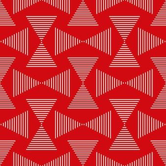 Sem costura padrão geométrico de listras e triângulos abstrato