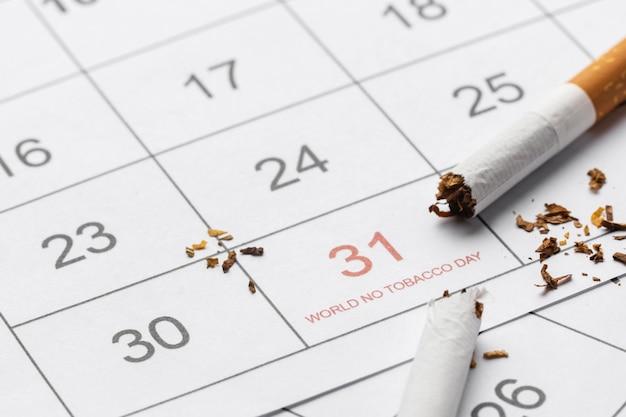 Sem sortimento de elementos do dia do tabaco