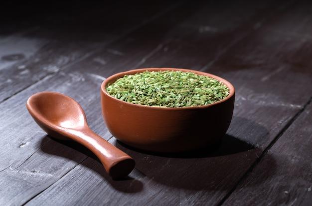 Semente de erva-doce ou souf. comida digestiva tradicional indiana após almoço e jantar
