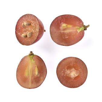 Semente de uva isolado no fundo branco