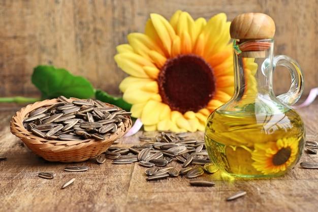 Semente e óleos de girassol