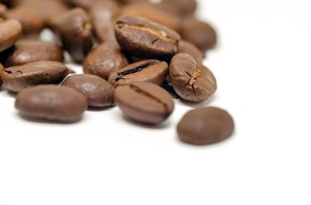 Sementes de café isoladas