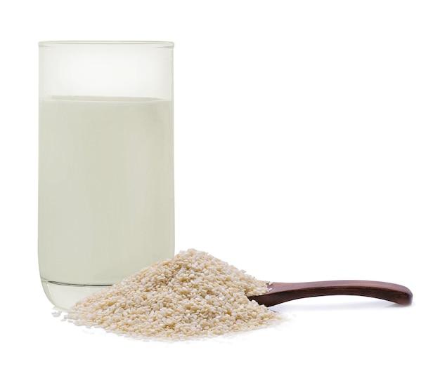 Sementes de gergelim branco de leite