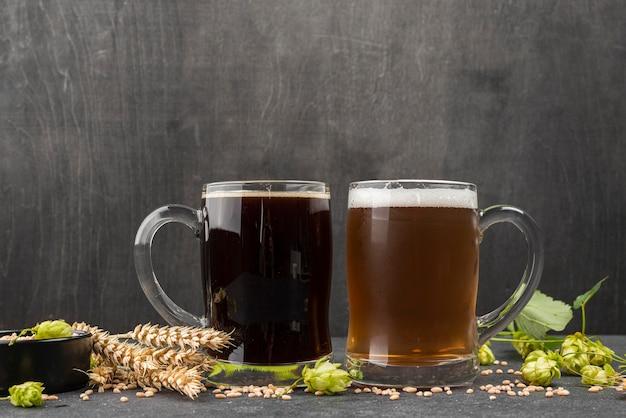 Sementes de trigo para uma cerveja deliciosa