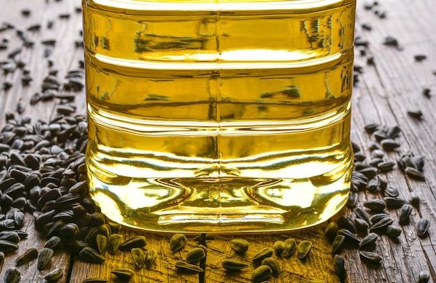 Sementes e óleo de girassol