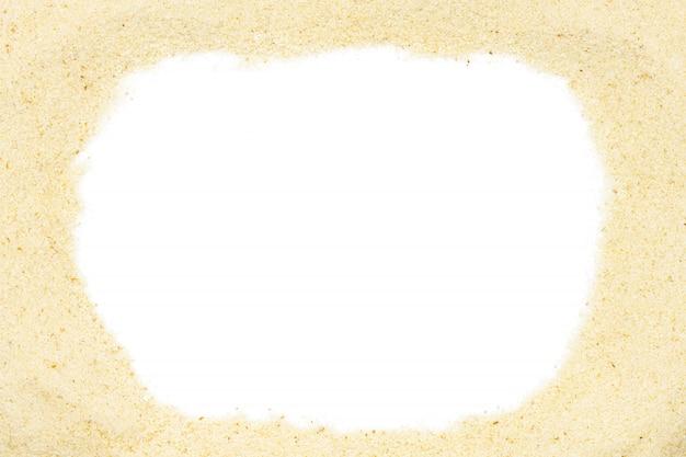 Semolina com espaço da cópia, fim acima, macro, vista superior. farinha popular na culinária.