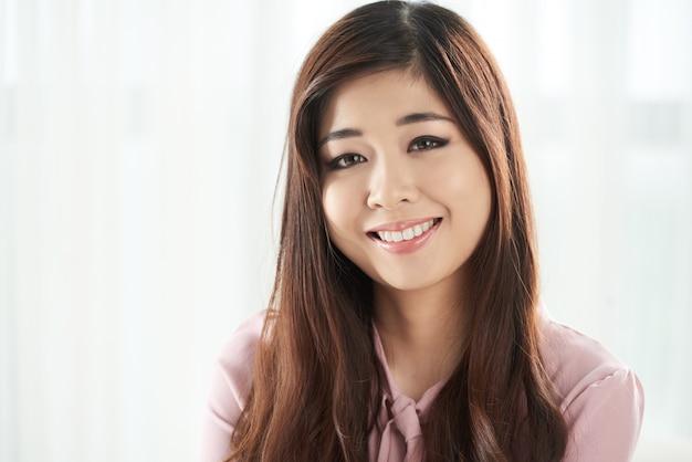 Senhora sorridente