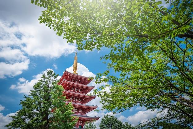 Sensoji é um antigo templo budista durante o dia em asakusa, tóquio, japão.