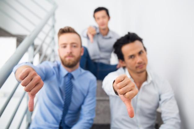 Sentado expressão falha gerente infeliz