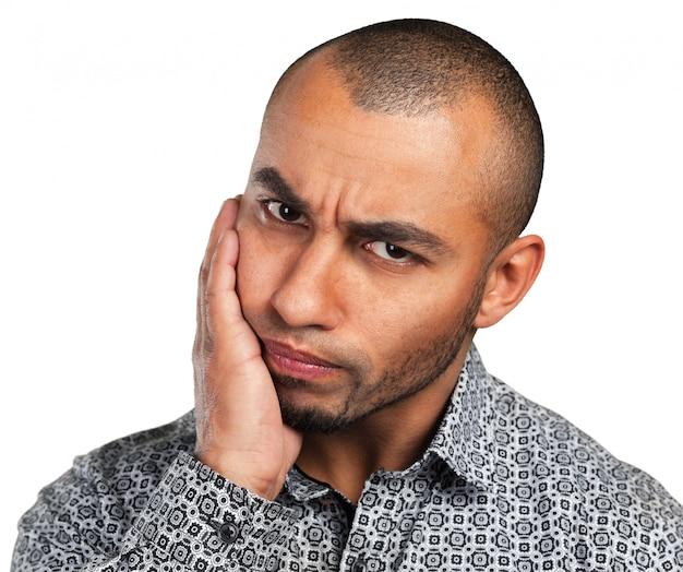 Sentimento de expressão facial de emoção negativa
