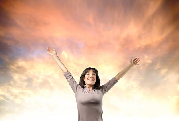 Sentindo-se livre e feliz