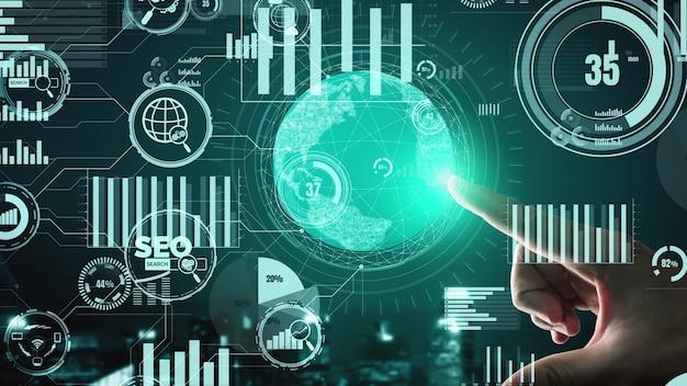 Seo search engine optimization, conceitual de negócios