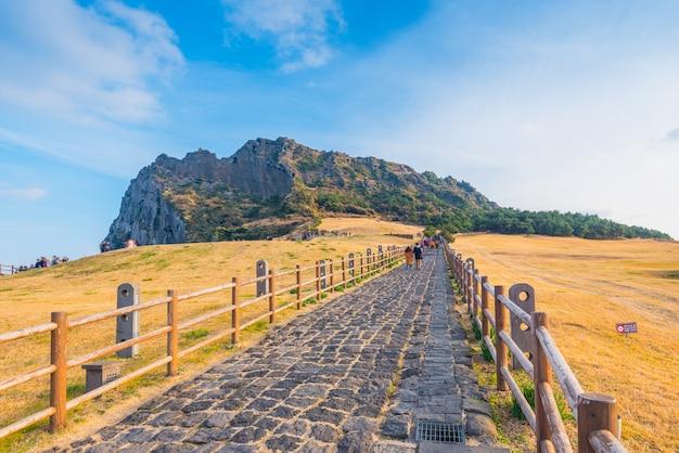 Seongsan ilchulbong, ilha de jeju, coreia do sul