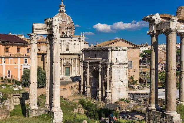 Septimius severus arch no fórum romano, roma, itália