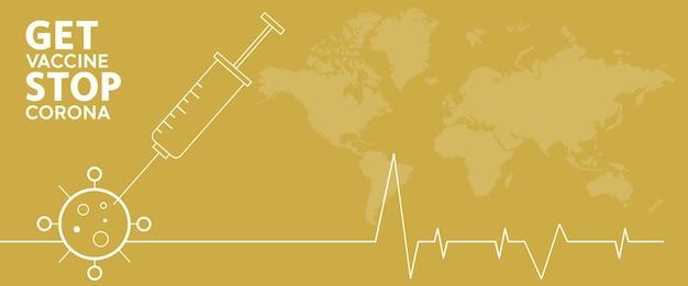 Ser vacinado pára corona. estilo simples, conceito de vacinação, injeção, ilustração isolada