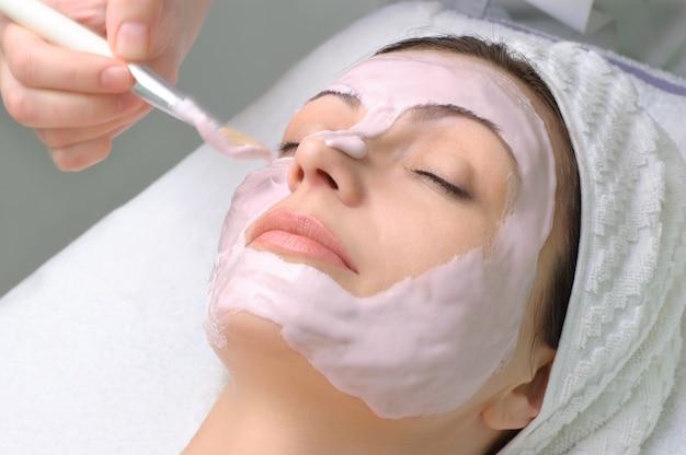 Série de salão de beleza, máscara facial