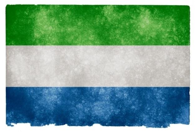Serra leoa grunge bandeira