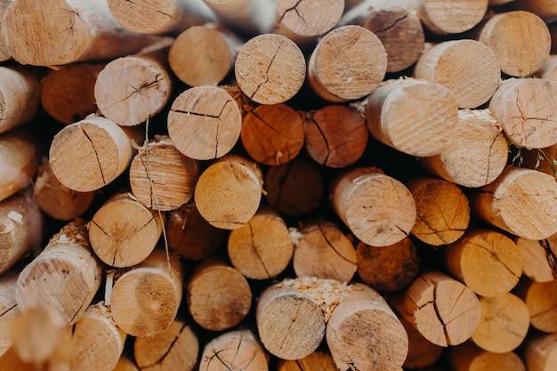 Serra redonda corta troncos. toros redondos