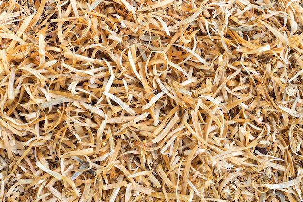 Serragem de madeira marrom natureza textura de fundo