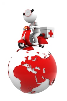 Serviço de emergência global. isolado