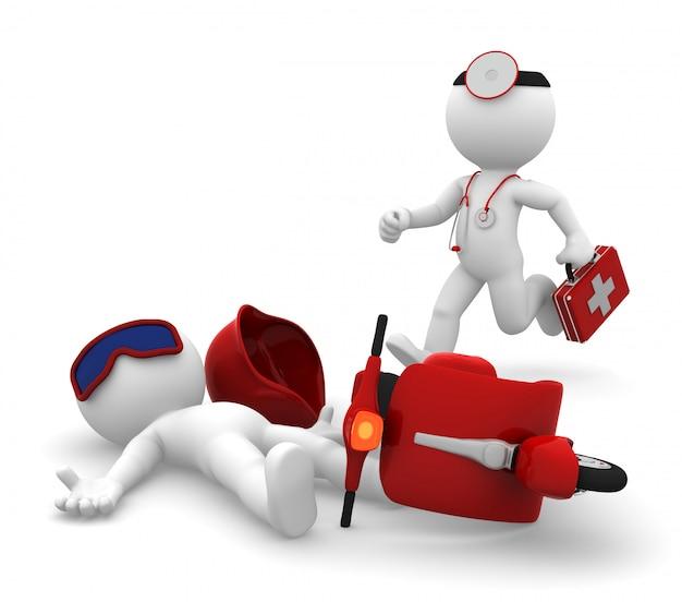 Serviço de emergencia médica. isolado