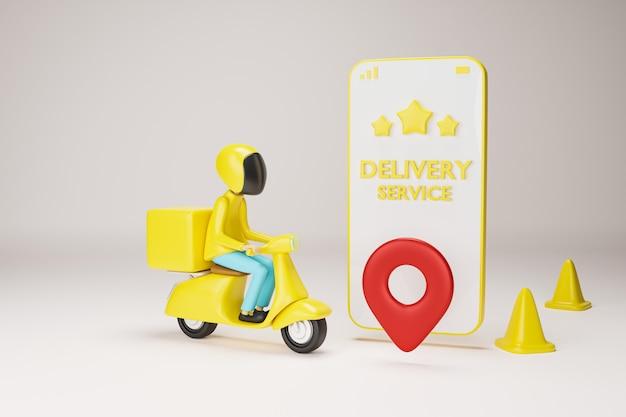 Serviço de entrega de moto.
