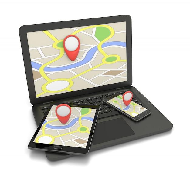 Serviço de mapa online