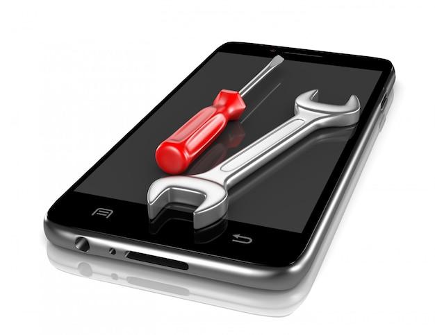 Serviço de reparo de smartphones