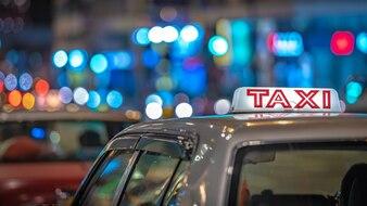 Serviço de transporte de táxi em Hong Kong