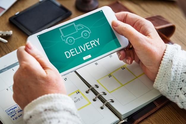 Serviços de boa distribuição de caminhão de entrega