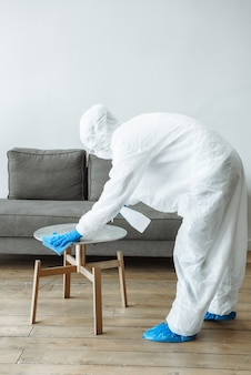 Serviços de desinfecção e limpeza.