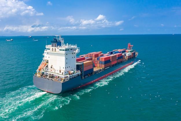 Serviços de empresas de contêineres para embarques importação e exportação internacional