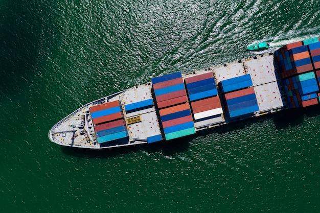 Serviços para empresas e transporte da indústria transporte de contêineres de importação e exportação internacional