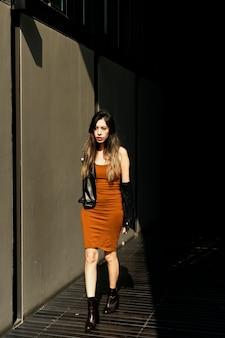 Sessão de moda estilo de vida de mulher