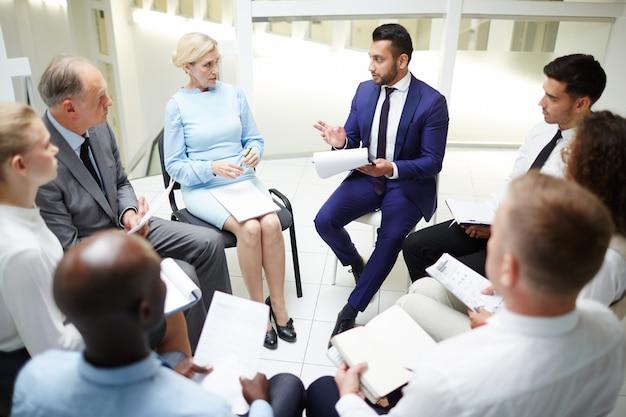 Sessão de negócios